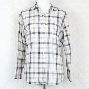 Tops - Madewell Pebble Plaid Oversized Boyfriend Shirt